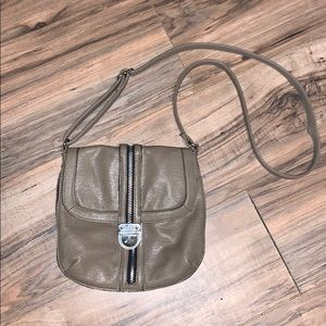Kenneth Cole Reaction Tan Faux Leather Crossbody